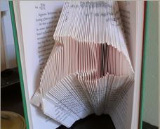 Book folding pattern Dolphin