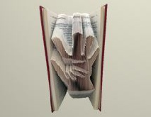 Book folding pattern Hand on Hand