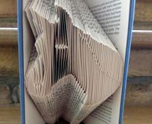 Book folding pattern Horse